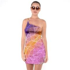 Crystalized Rainbow One Soulder Bodycon Dress