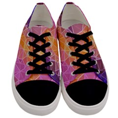 Crystalized Rainbow Men s Low Top Canvas Sneakers