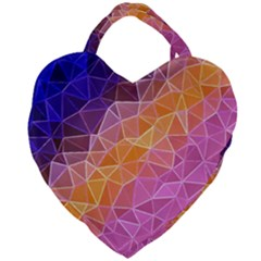 Crystalized Rainbow Giant Heart Shaped Tote