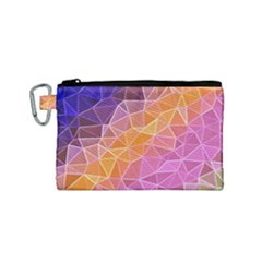 Crystalized Rainbow Canvas Cosmetic Bag (small)