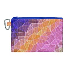 Crystalized Rainbow Canvas Cosmetic Bag (large)