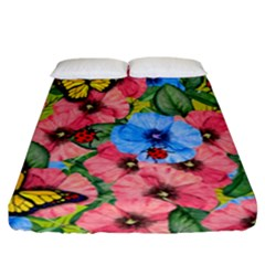 Floral Scene Fitted Sheet (california King Size)