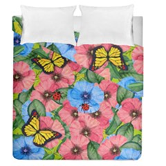 Floral Scene Duvet Cover Double Side (queen Size)