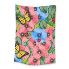Floral Scene Small Tapestry