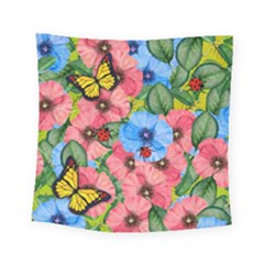 Floral Scene Square Tapestry (small)