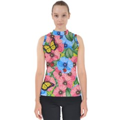 Floral Scene Shell Top