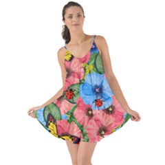 Floral Scene Love The Sun Cover Up