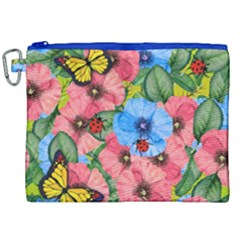 Floral Scene Canvas Cosmetic Bag (xxl)