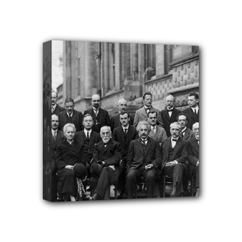 1927 Solvay Conference On Quantum Mechanics Mini Canvas 4  X 4