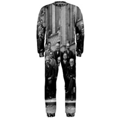 1927 Solvay Conference On Quantum Mechanics Onepiece Jumpsuit (men)