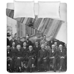 1927 Solvay Conference On Quantum Mechanics Duvet Cover Double Side (california King Size)