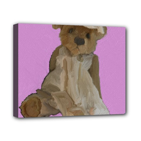 Ginger The Teddy Bear, By Julie Grimshaw 2018 Canvas 10  X 8