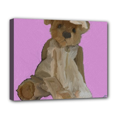 Ginger The Teddy Bear, By Julie Grimshaw 2018 Deluxe Canvas 20  X 16