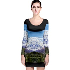 Mountaincurvemore Long Sleeve Bodycon Dress