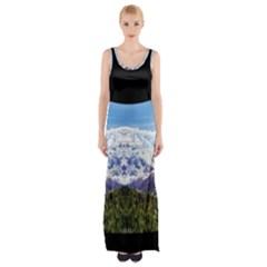 Mountaincurvemore Maxi Thigh Split Dress