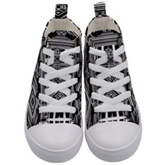 Zodiac House Of Time Kid s Mid Top Canvas Sneakers