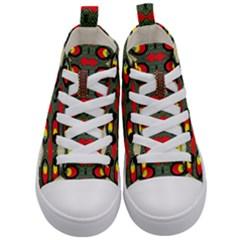 Space Eye Kid s Mid Top Canvas Sneakers