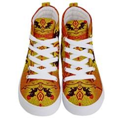 Green Sun Kid s Hi Top Skate Sneakers