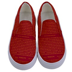 Mrtacpans Writing Grace Kids  Canvas Slip Ons