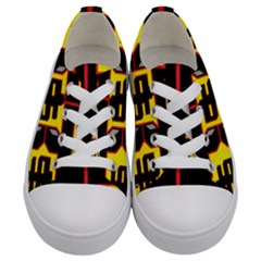 Give Me The Money Kids  Low Top Canvas Sneakers