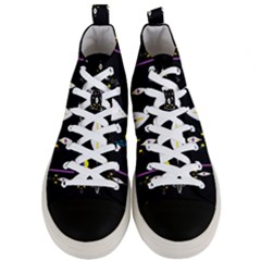 Quebec With Love Men s Mid Top Canvas Sneakers