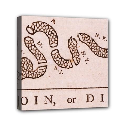 Original Design, Join Or Die, Benjamin Franklin Political Cartoon Canvas Travel Bag