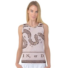 Original Design, Join Or Die, Benjamin Franklin Political Cartoon Women s Basketball Tank Top