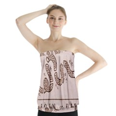 Original Design, Join Or Die, Benjamin Franklin Political Cartoon Strapless Top