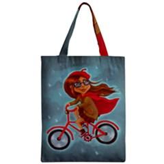 Girl On A Bike Classic Tote Bag