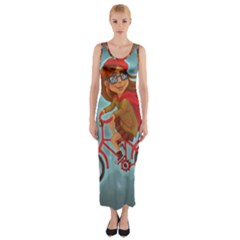 Girl On A Bike Fitted Maxi Dress