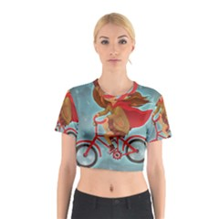 Girl On A Bike Cotton Crop Top