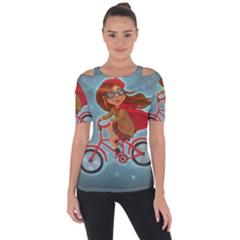 Girl On A Bike Short Sleeve Top