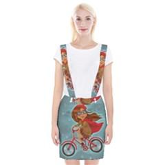 Girl On A Bike Braces Suspender Skirt