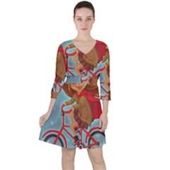 Girl On A Bike Ruffle Dress