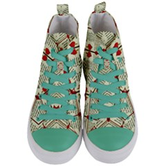 Short Story Women s Mid Top Canvas Sneakers