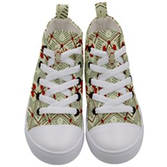 Short Story Kid s Mid Top Canvas Sneakers