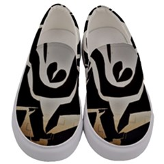 With Love Men s Canvas Slip Ons