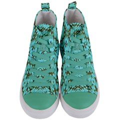 Pluto Venus Time Women s Mid Top Canvas Sneakers