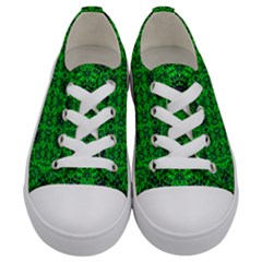 Green Martian Kids  Low Top Canvas Sneakers