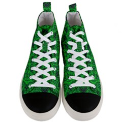 Green Martian Men s Mid Top Canvas Sneakers