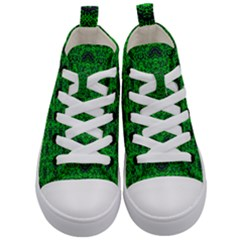 Green Martian Kid s Mid Top Canvas Sneakers