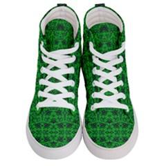 Green Martian Women s Hi Top Skate Sneakers