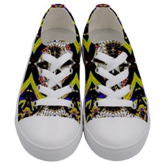 Space Gala Kids  Low Top Canvas Sneakers