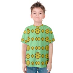 Sun Flowers For The Soul At Peace Kids  Cotton Tee
