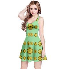 Sun Flowers For The Soul At Peace Reversible Sleeveless Dress