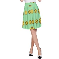 Sun Flowers For The Soul At Peace A Line Skirt