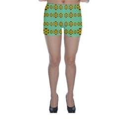 Sun Flowers For The Soul At Peace Skinny Shorts
