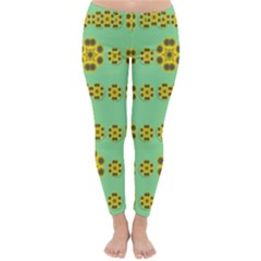 Sun Flowers For The Soul At Peace Classic Winter Leggings