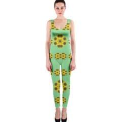Sun Flowers For The Soul At Peace Onepiece Catsuit