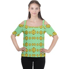 Sun Flowers For The Soul At Peace Cutout Shoulder Tee